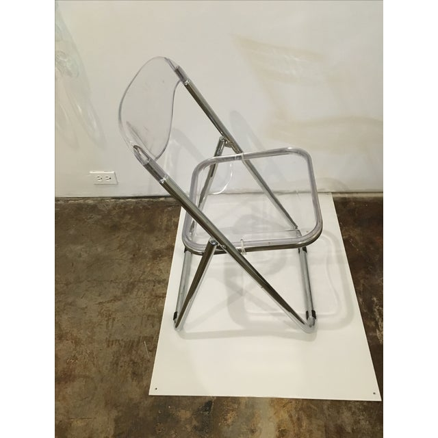 Set of Six Lucite Folding Chairs - Image 5 of 7