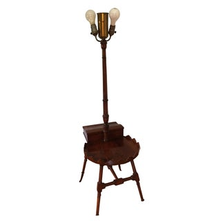 Antique Floor Lamp With Side Table
