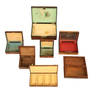French Wooden Boxes - Set of 7
