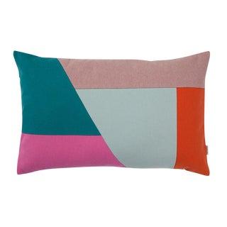 Color Blocking Lumbar Pillow