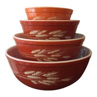 4-Piece Pyrex Bowl Set in Autumn Harvest