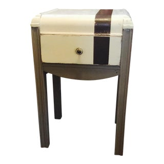 Antique Waterfall Cream & Brown Nightstand