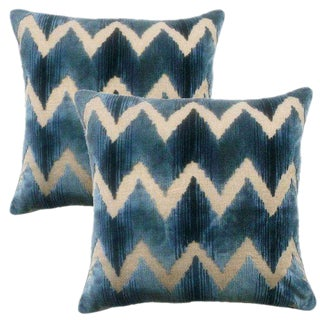 Lee Jofa Belgian Velvet Accent Pillows - a Pair