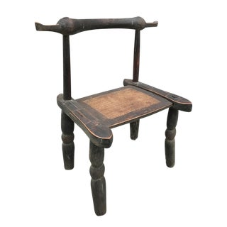 Exceptional Antique African Ivory Coast Senufo Hand Carved Tribe Chair