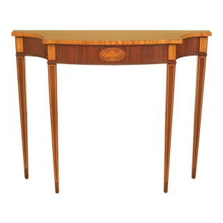 Councill Craftsmen Inlaid Mahogany Federal Console Table