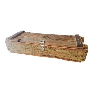 Antique Military M30 Mortar Ammunition Crate