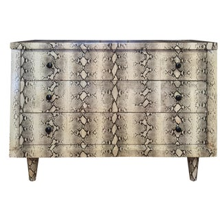 Mid-Century Faux-Snakeskin Finish Dresser by Dixie