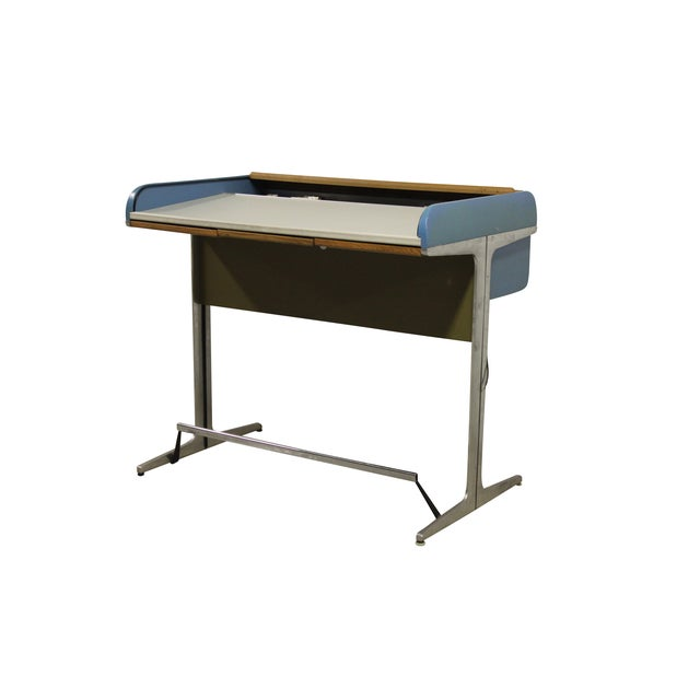 George Nelson Action Office Tambour High Desk - Image 9 of 10