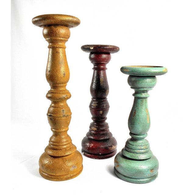 Boho Chic 3-Piece Candleholder Set - Image 2 of 6