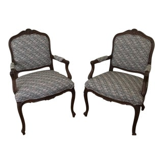 Ethan Allen French Armchairs - A Pair