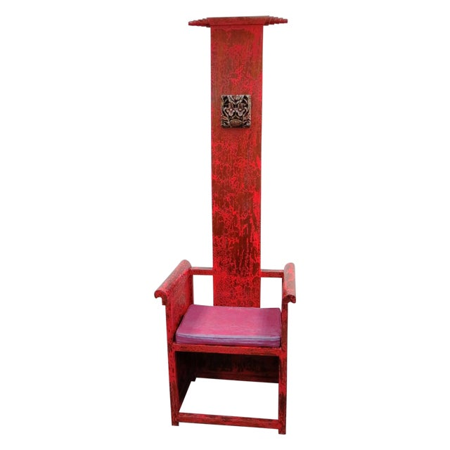 "Tall Asian Alter Chair 81""High - Image 1 of 6"