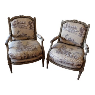 Period 18th Century Charles X Upholstered Chairs- a Pair