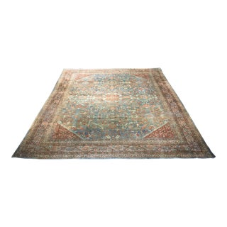 "Bellwether Rugs Antique Persian Sultanabad Distressed Rug - 10'9"" X 13'4"""
