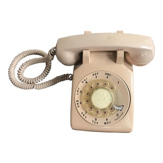 Vintage Mid-Century Modern Rotary Dial Desk Phone