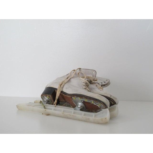 Vintage White Ice Skates - Pair - Image 4 of 5