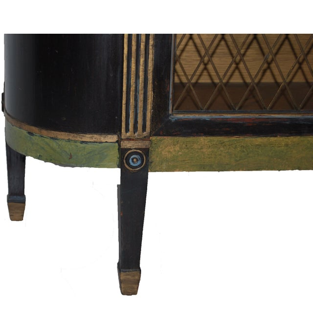 Federal Style Mahogany Painted Cabinet Table - Image 4 of 7