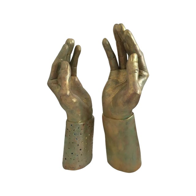 Sculptural Hand-Made Hands - Pair - Image 1 of 9