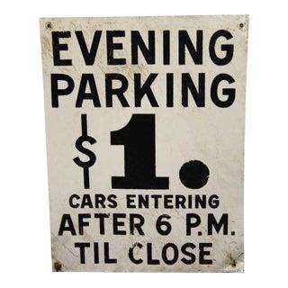 Enamel Metal Parking Sign