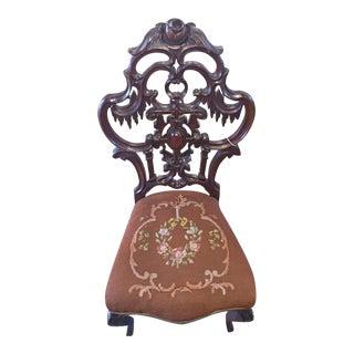 Victorian Linen Side Chair