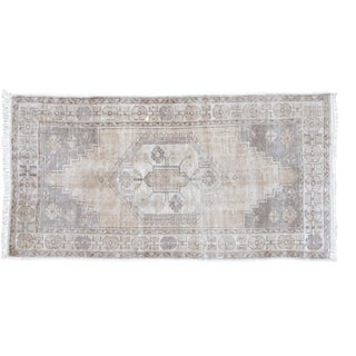 "Distressed Oushak Runner Rug - 3'6"" X 6'8"""