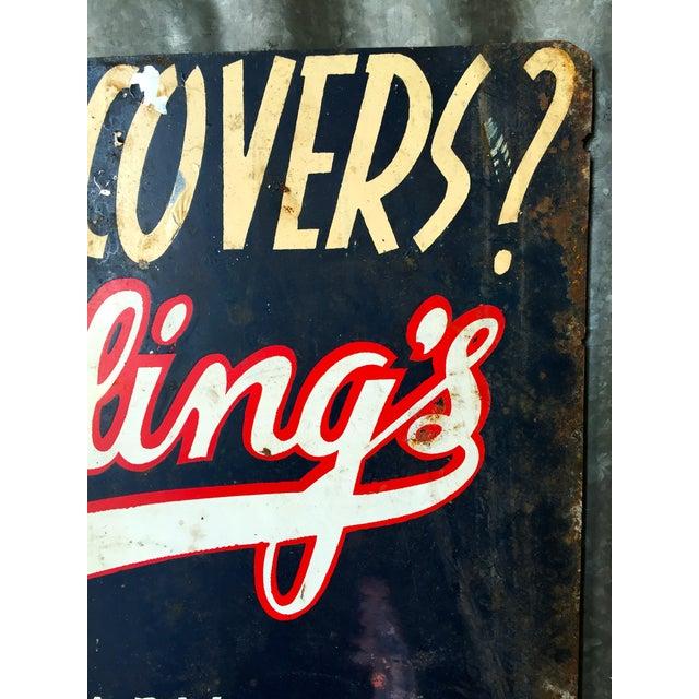 Vintage Spradling's Dallas Texas Trade Sign - Image 7 of 7