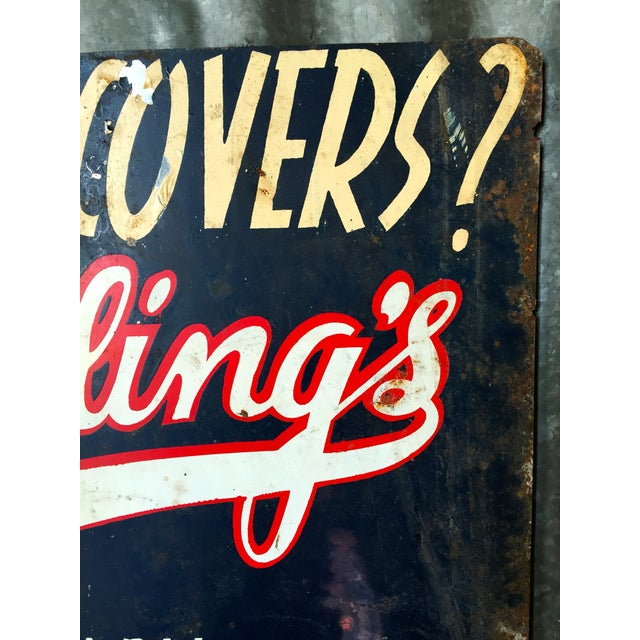 Image of Vintage Spradling's Dallas Texas Trade Sign