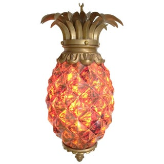 Hollywood Regency Pineapple Lantern