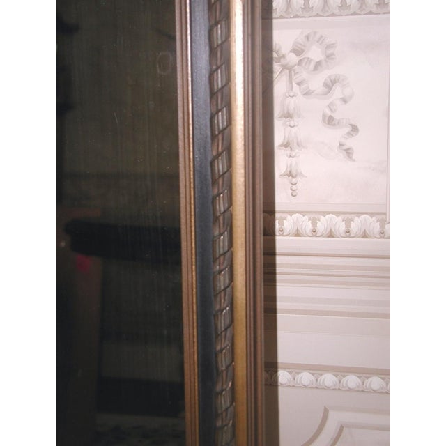 Neoclassical French Gilt Black Etched Mirror - Image 4 of 8