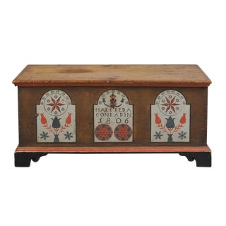 PAINT DECORATED DOWER CHEST