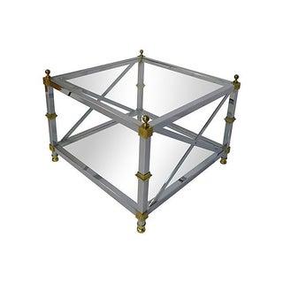 Maison Jansen Style Chrome & Brass Table
