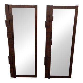 Lane Vintage Brutalist Mirrors - A Pair