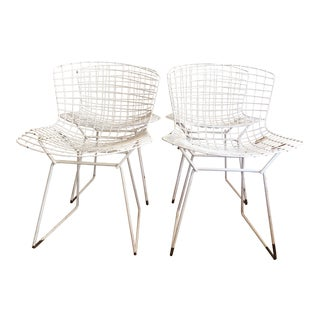 Bertoia for Knoll White Side Chairs - Set of 4
