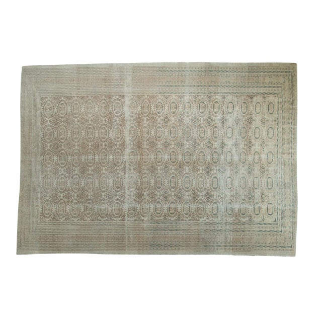 "Vintage Distressed Kaisary Carpet - 6'7"" x 9'5"" - Image 1 of 10"