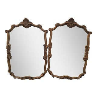 Vintage Queen Anne Style Mirrors - A Pair