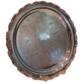 Oneida Silver-Plate Floral Motif Tray