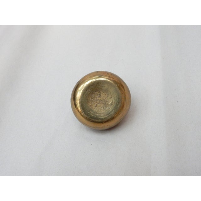 Image of Brass Curling Stone Paperweight