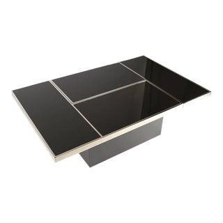 Black and Chrome Bar Coffee Table