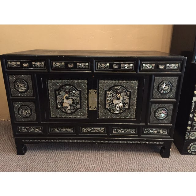Image of Vintage Abalone Cabinet Mother of Pearl