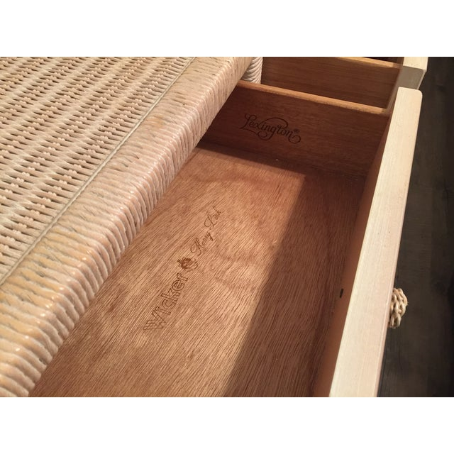 Henry Link Wicker Rolling Console Cart - Image 6 of 10