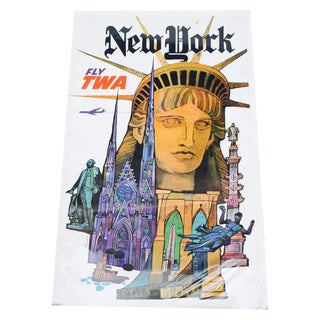 Vintage 1960's Twa New York Advertising Poster