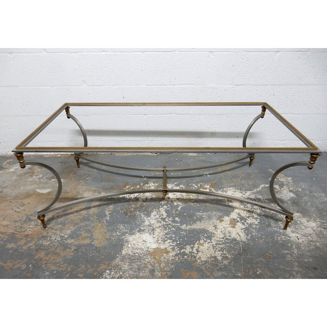 Vintage French Decorative Coffee Table With Brass - Image 3 of 11