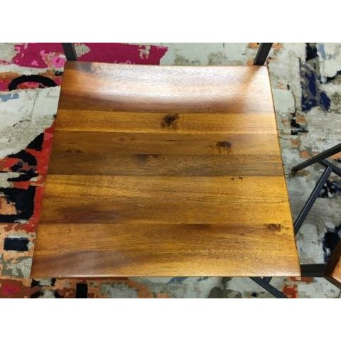 West Elm Rustic Counter Stools - A Pair - Image 5 of 11