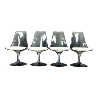 Chromcraft Lucite and Chrome Tulip Chairs - Set of 4