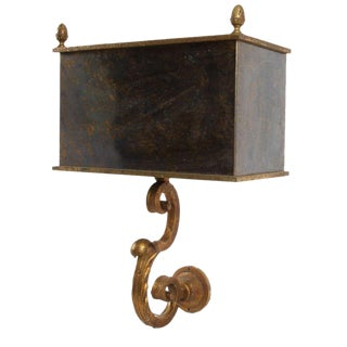 French Glass Shade Wall Sconce