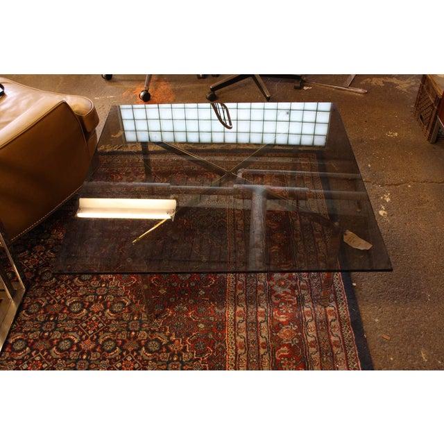 Mies Van Der Rohe Smoked Glass Coffee Table Chairish
