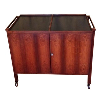 Danish Modern Expandable Bar Cart