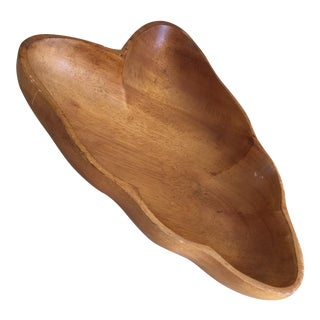 Vintage Hawaiian Natural Wood Bowl