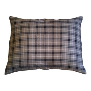 Brown Tan & Black Plaid Pillow Case