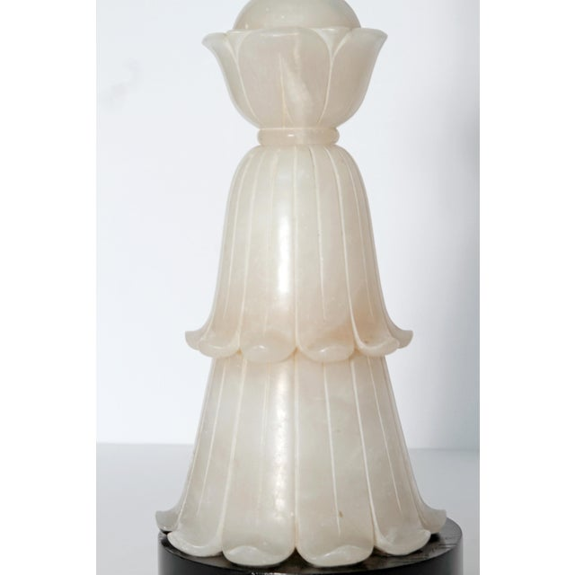 Tall Art Deco Alabaster Lamp - Image 5 of 9