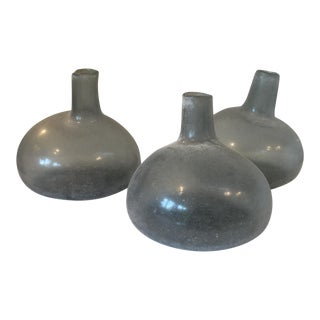 Mid-Century Handblown Glass Vases - Set of 3